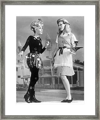 Carhop Of The Future Framed Print by Underwood Archives