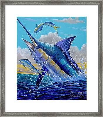 Carib Blue Framed Print by Carey Chen