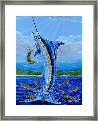 Ocean City Framed Print featuring the painting Caribbean Blue Off0041 by Carey Chen
