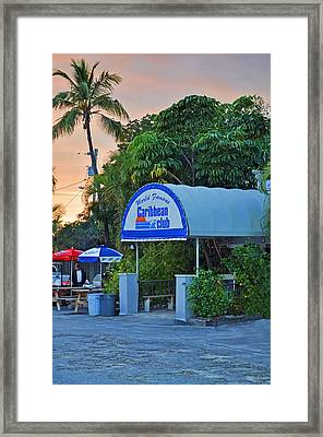 Caribbean Club Key Largo Framed Print by Chris Thaxter