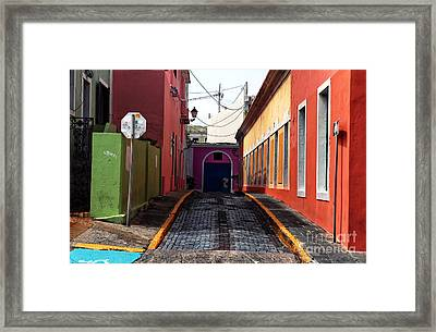 Caribbean Colors Of San Juan Framed Print by John Rizzuto