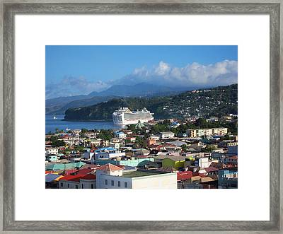 Caribbean Cruise - On Board Ship - 1212147 Framed Print by DC Photographer