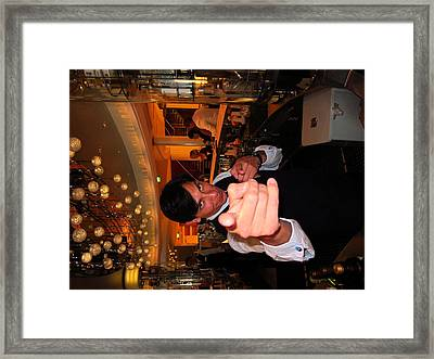 Caribbean Cruise - On Board Ship - 1212216 Framed Print by DC Photographer