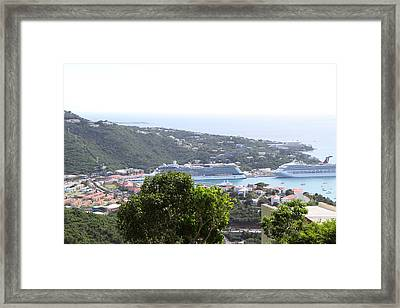 Caribbean Cruise - St Thomas - 1212269 Framed Print by DC Photographer