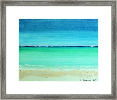 Caribbean Ocean Turquoise Waters Abstract Framed Print by Robyn Saunders