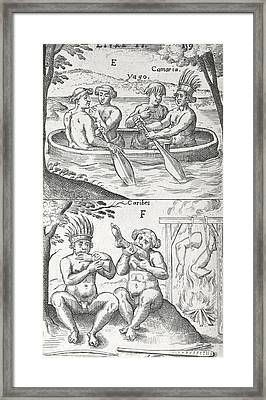 Caribbean Peoples, 17th Century Framed Print by Science Photo Library