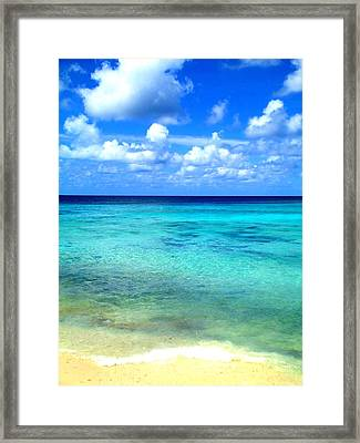 Caribbean Perfection Framed Print by Randall Weidner