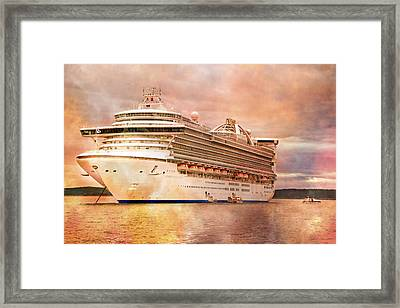 Caribbean Princess In A Different Light Framed Print by Betsy Knapp