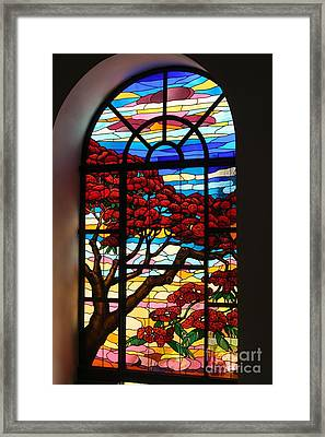 Caribbean Stained Glass  Framed Print by The Art of Alice Terrill