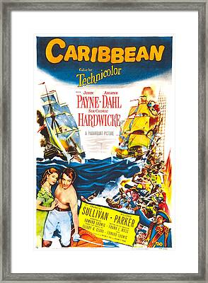 Caribbean, Us Poster, Bottom From Left Framed Print by Everett