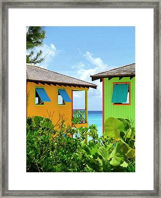 Caribbean Village Framed Print by Randall Weidner