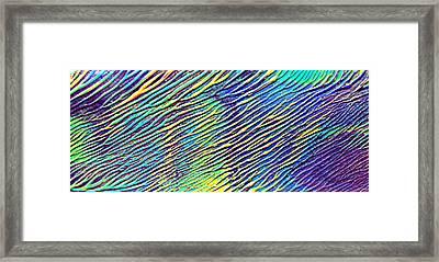 caribbean waves Acryl blurred vision Framed Print by Sir Josef Social Critic - ART