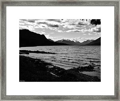 Cariboo Lake British Columbia Canada Framed Print by Barbara St Jean
