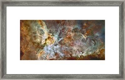 Carinae Nebula Framed Print by Sebastian Musial