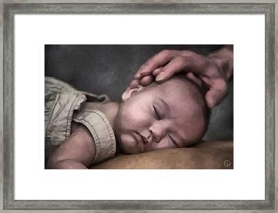 Caring Hands Framed Print by Gun Legler
