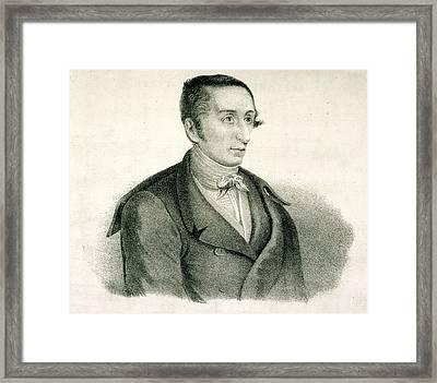 Carl Maria Von Weber Framed Print by British Library