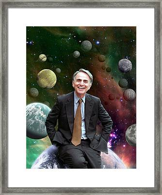 Carl Sagan Framed Print by Nasa/jpl-caltech