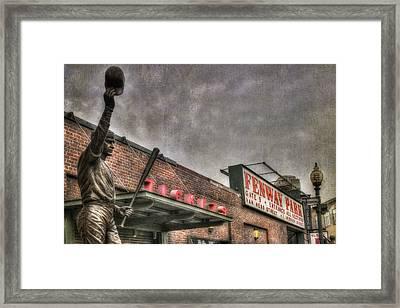 Carl Yastrzemski - Fenway Park Framed Print by Joann Vitali
