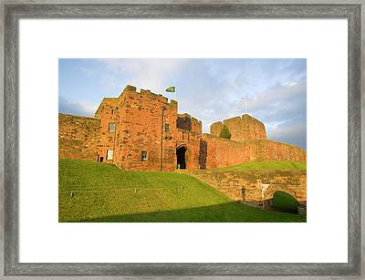 Carlisle Castle In Cumbria Framed Print by Ashley Cooper