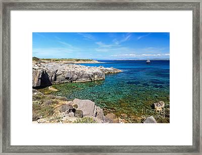 Carloforte Coastline Framed Print by Antonio Scarpi