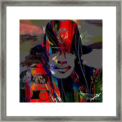 Carlos Santana Collection Framed Print by Marvin Blaine