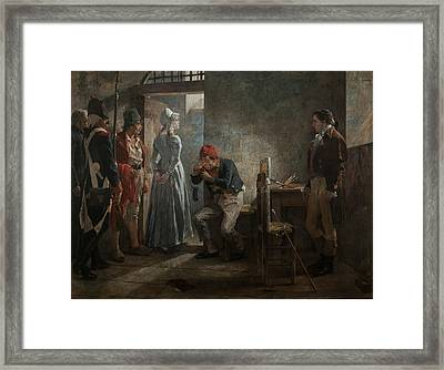 Carlota Corday Framed Print by Celestial Images