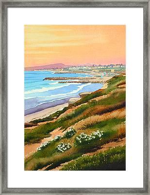 Carlsbad Coastline Framed Print by Mary Helmreich