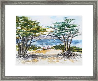 Carmel By The Sea California Framed Print by Irina Sztukowski