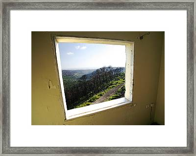 Carmel Fire 5 Framed Print by Isaac Silman