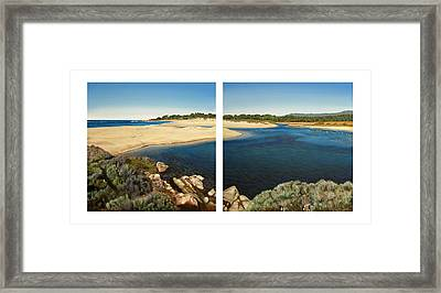 Carmel Lagoon Beach Framed Print by Logan Parsons