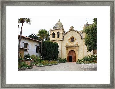 Carmel Mission Church Framed Print by Carol Groenen