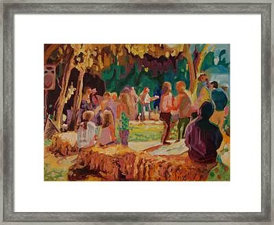 Carmel Valley Hoopla Framed Print by Thomas Bertram POOLE