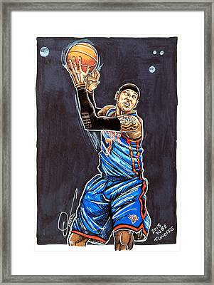 Carmelo Anthony Framed Print by Dave Olsen