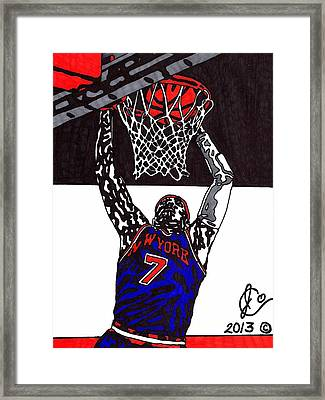 Carmelo Anthony Framed Print by Jeremiah Colley
