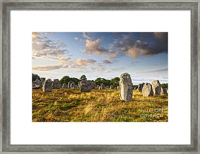 Carnac Alignments Brittany France Framed Print by Colin and Linda McKie