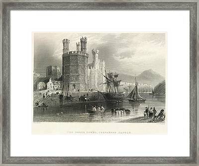 Carnarvon Castle Framed Print by British Library