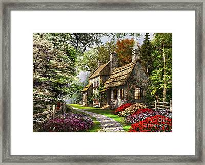 Carnation Cottage Framed Print by Dominic Davison