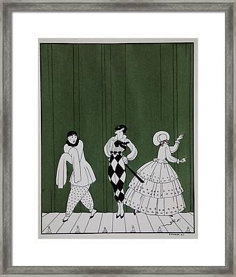 Carnaval Framed Print by Georges Barbier
