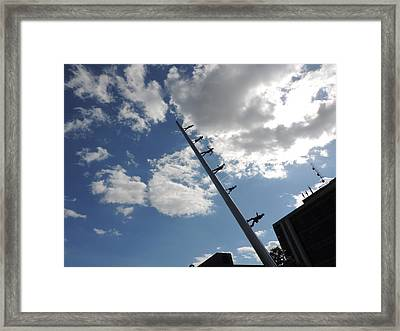 Carnegie Mellon University Walking To The Sky Framed Print by Cityscape Photography