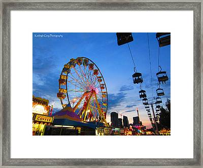 Carnival Colours Framed Print by Kaeleigh Gray