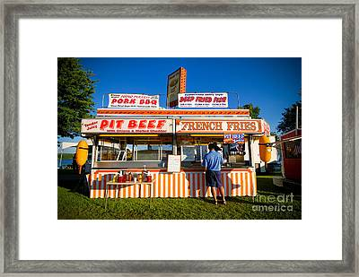 Carnival Concession Stand Framed Print by Amy Cicconi