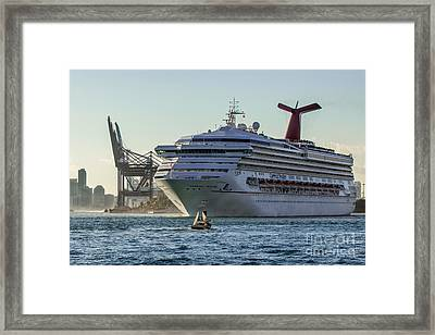 Carnival Cruise Line Destiny Framed Print by Rene Triay Photography