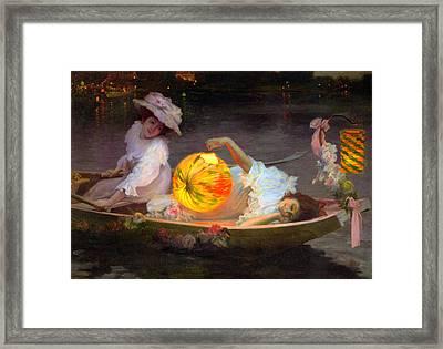 Carnival Eve Framed Print by Ulpiano Checa y Sanz