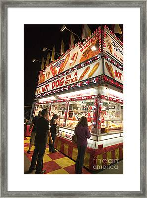 Carnival Hot Dog On A Stick Framed Print by Jason O Watson