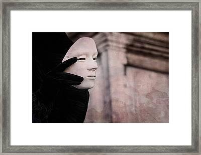 Carnival Of Venice -- Ghost - Tell Me Everything 2 By Zina Zinchik Framed Print by Zina Zinchik