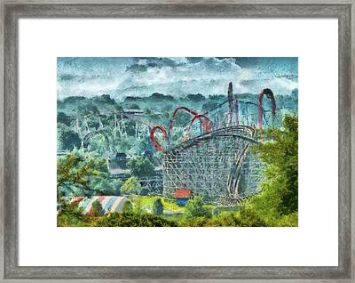 Carnival - The Thrill Ride Framed Print by Mike Savad
