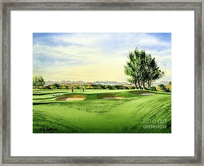 Carnoustie Golf Course 13th Green Framed Print by Bill Holkham
