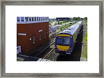 Carnoustie Train Framed Print by Buster Brown