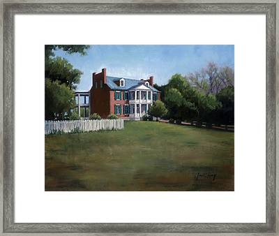 Carnton Plantation In Franklin Tennessee Framed Print by Janet King