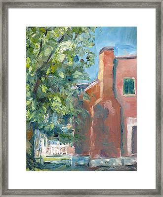 Carnton Plantation On A Spring Morning Framed Print by Susan E Jones